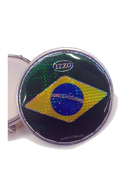 "Izzo parche tamborim 6"" bandera Brasil"