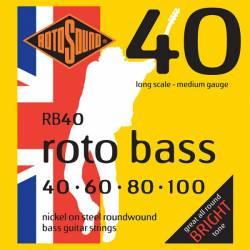 ROTOSOUND RB40 JUEGO CUERDAS BAJO 40-100