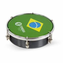 """TIMBRA TAMBORIM 6"""", ALUM. PARCHE BRASIL"""