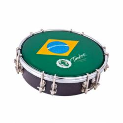 "TIMBRA TAMBORIM 6"", MADERA, PARCHE BRASIL"
