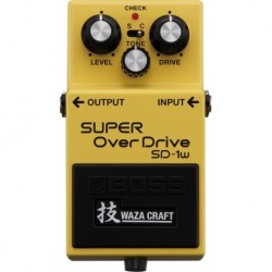 BOSS SD1W WAZA CRAFT SUPER OVERDRIVE PEDAL