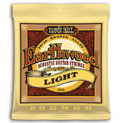 ERNIE BALL JUEGO ACÚSTICA EARTHWOOD BZ. LIGHT 11-52