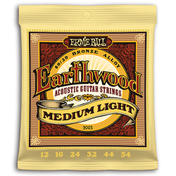 ERNIE BALL JUEGO ACÚSTICA EARTHWOOD BZ. MEDIUM LIGHT 12-54